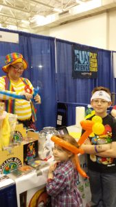 Twisting balloons at the Madison Kids Expo