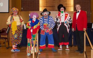 Photo from the Clown Auditions skit at United Methodist Church in Madison, Wisconsin
