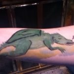Arm painting of sleeping dragon