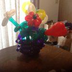 Balloon basket of Ballon flowers