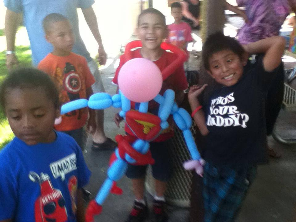A Superman balloon for Jacob at his birthday party