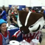At the 2015 Madison Kids Expo, Trudy is visited by Bucky Badger