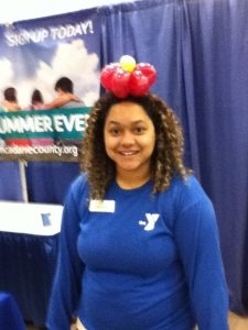 Head band at the 2015 Madison Kids Expo - at the Dane County YMCA booth