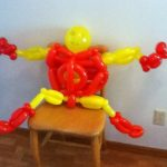 First attempt at an Iron Man balloon -- created as a thank-you for Westfield Comics for Free Comic Day