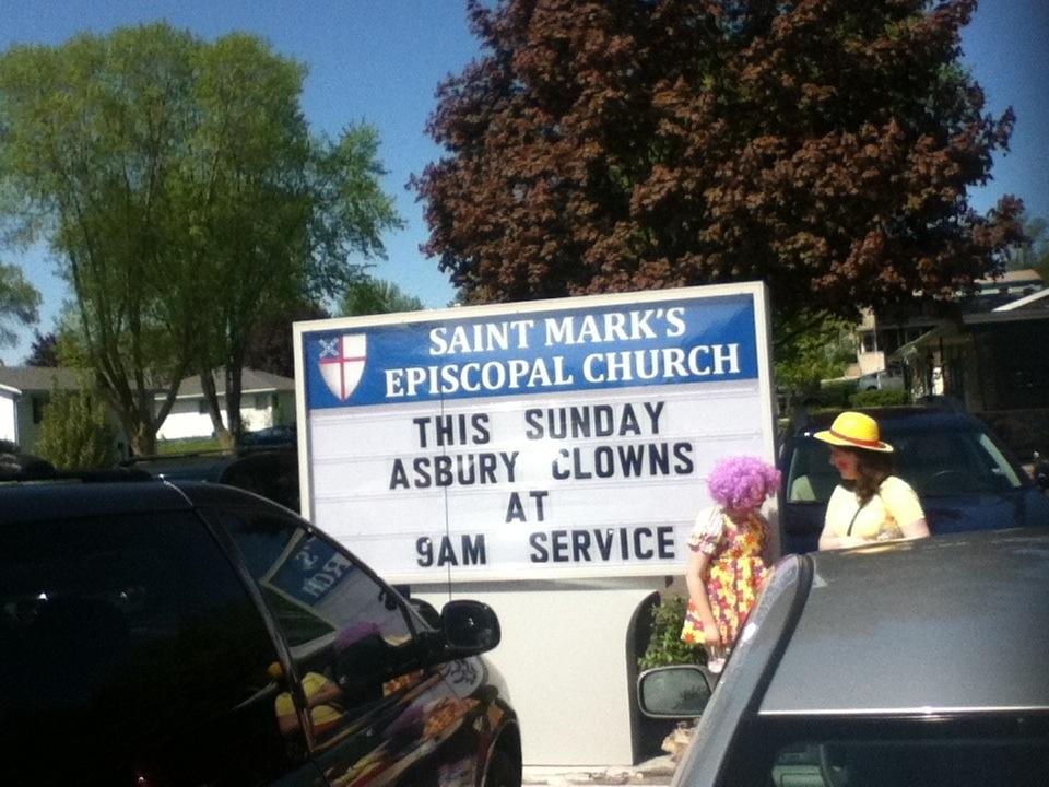 Thus Sunday, Asbury Clowns at Saint Mark's Episcopal Church in Beaver Dam