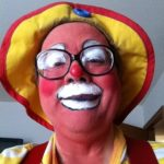 Trying a different makeup tweak for the appearance at St Mark's in Beaver Dam with the Asbury Clown Troupe