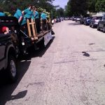Line up of the 20+ floats