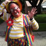 Raynbow ready for the Canal Days parade in Portage, WI