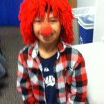 Cedric as a clown
