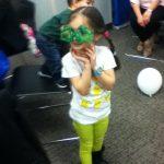 Magic glasses - cute pose from a cute kid