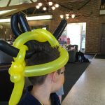 Back of the Minion hair hat