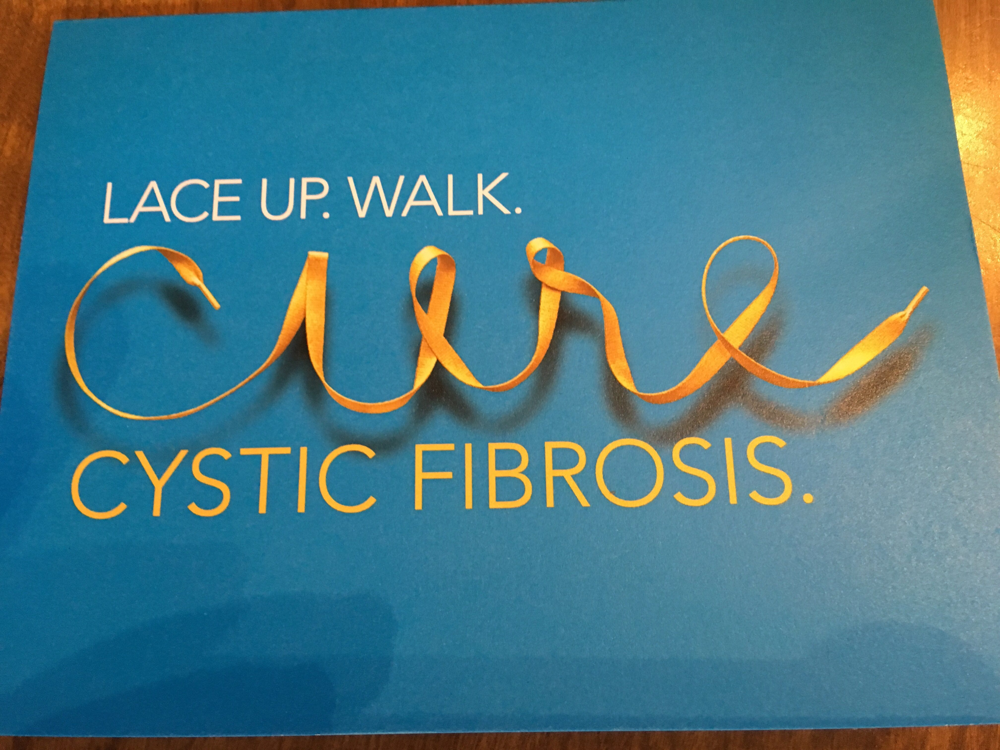Lace up. Walk. Cure Cystic Fibrosis