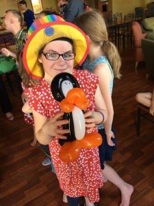 Cassie and penguin - Lifechurch summer picnic