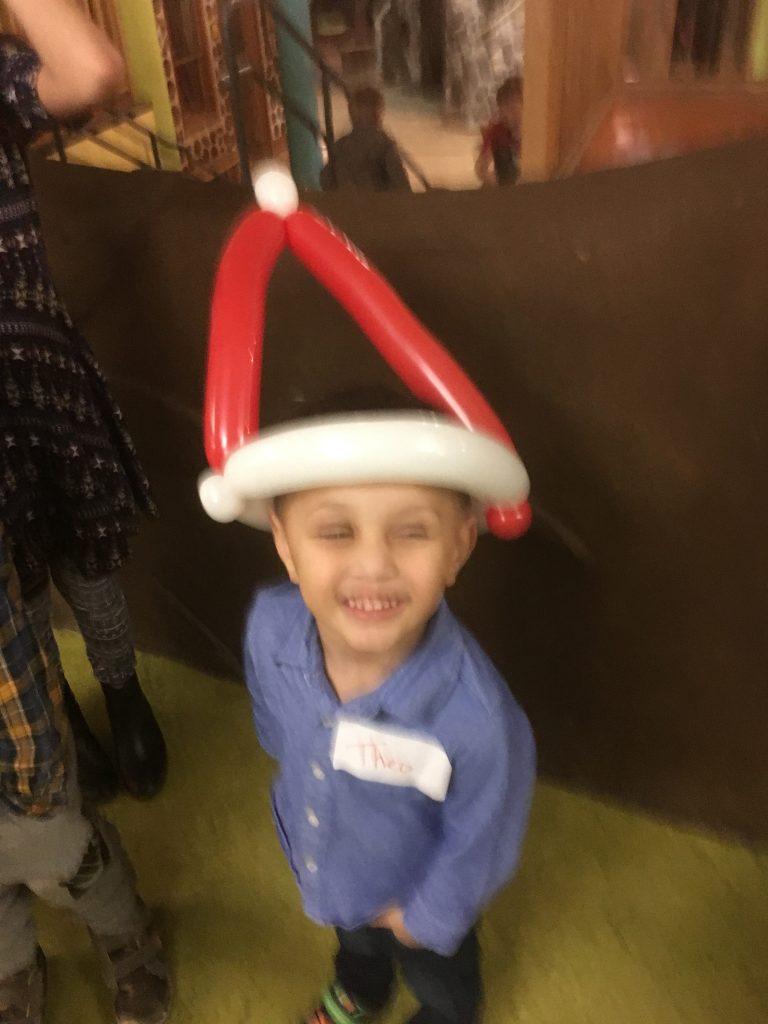Santa hats were popular