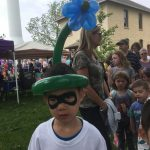 Superhero with a flower hat