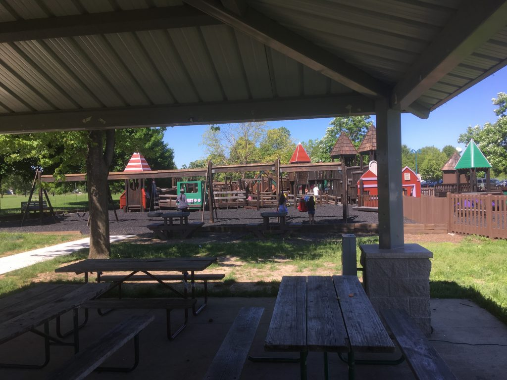 Photos of McKee Farms park before the Crohn's & Colitis event started