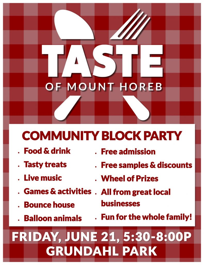 Taste of Mount Horeb this Friday