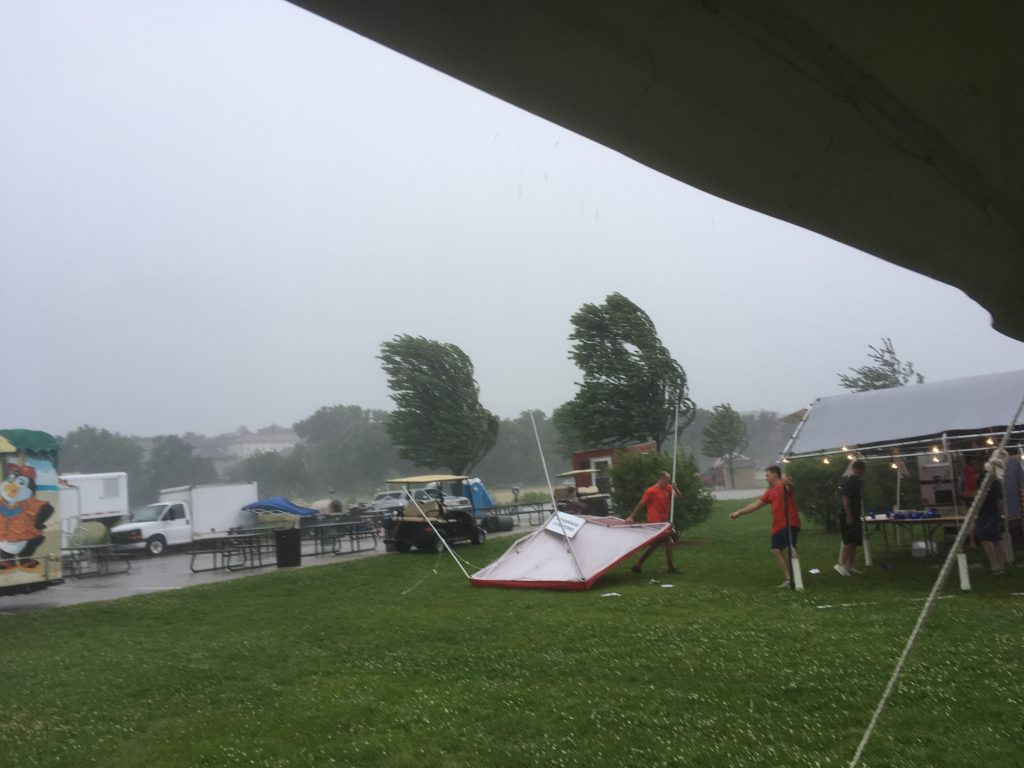 Storm outside the tent
