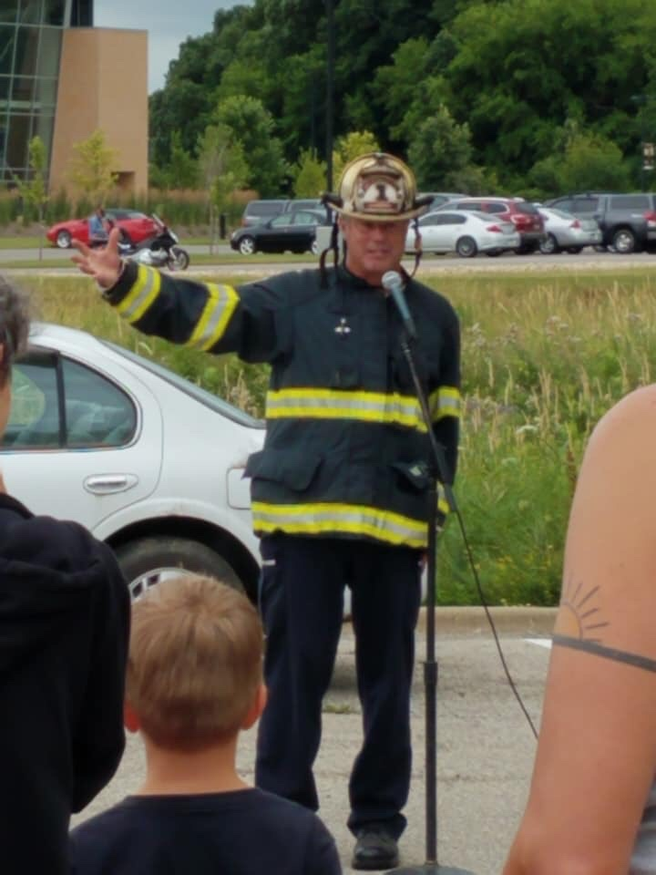 Firefighters demonstrating at the 2019 Middleton Block Party