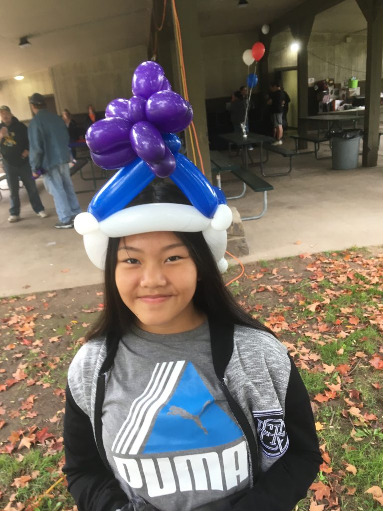 Young lady wanted a star on her hat